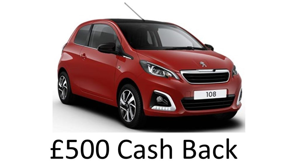Peugeot 108 Active 72 No Deposit To Pay